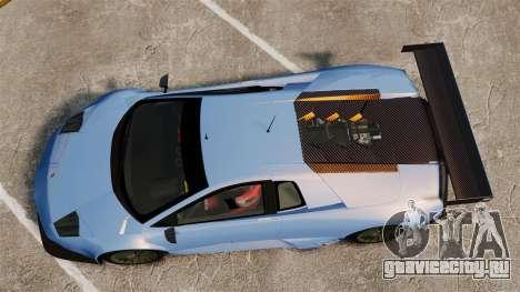 Lamborghini Murcielago RSV FIA GT1 v3.0 для GTA 4 вид справа