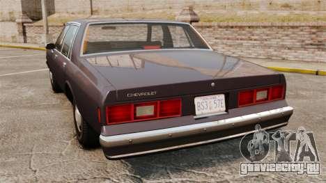 Chevrolet Impala 1985 для GTA 4 вид сзади слева
