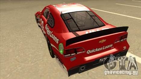 Chevrolet SS NASCAR No. 39 Quicken Loans для GTA San Andreas вид сзади
