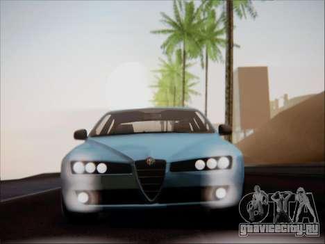 Alfa Romeo 159 Sedan для GTA San Andreas вид изнутри