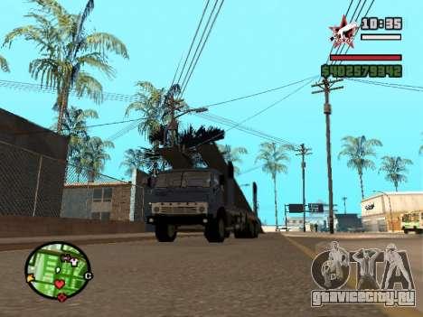 КАМАЗ 43085 Автовоз для GTA San Andreas вид слева