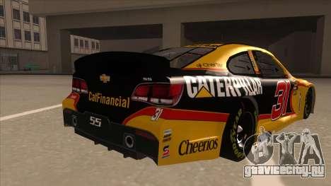 Chevrolet SS NASCAR No. 31 Caterpillar для GTA San Andreas вид справа