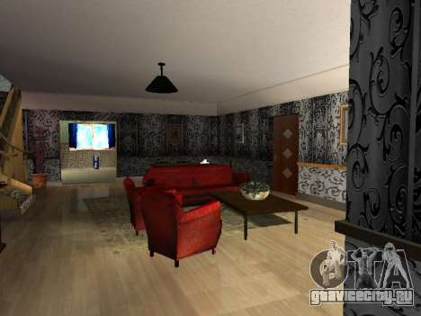 Новый интерьер 2-ух этажного дома CJ для GTA San Andreas второй скриншот