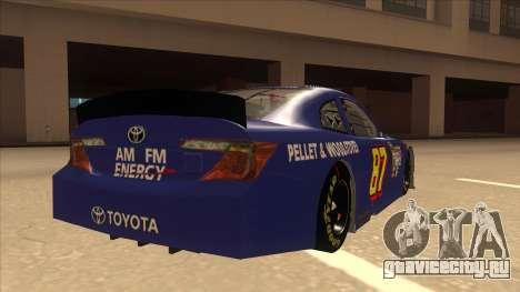 Toyota Camry NASCAR No. 87 AM FM Energy для GTA San Andreas вид справа