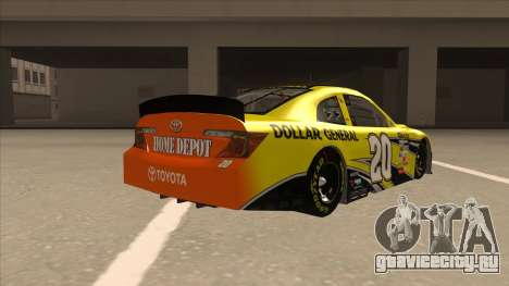 Toyota Camry NASCAR No. 20 Dollar General для GTA San Andreas вид справа