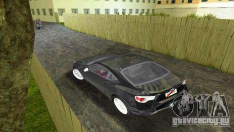 Subaru BRZ Type 2 для GTA Vice City вид справа