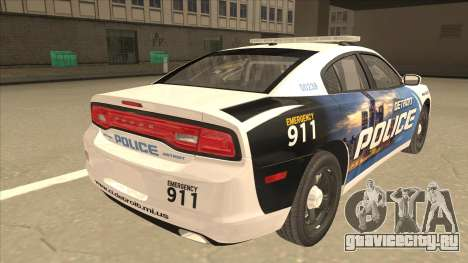 Dodge Charger Detroit Police 2013 для GTA San Andreas вид справа