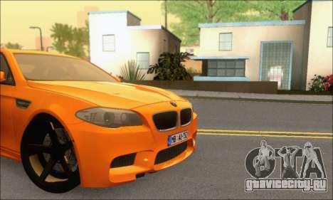 BMW M5 Vossen для GTA San Andreas вид изнутри