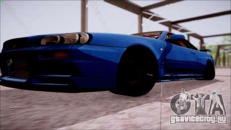 Nissan Skyline GT-R R34 для GTA San Andreas вид сбоку