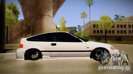 Honda CRX JDM Style для GTA San Andreas вид сзади слева