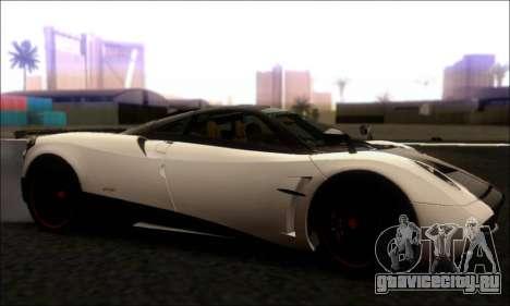 Pagani Huayra Cinque для GTA San Andreas вид слева