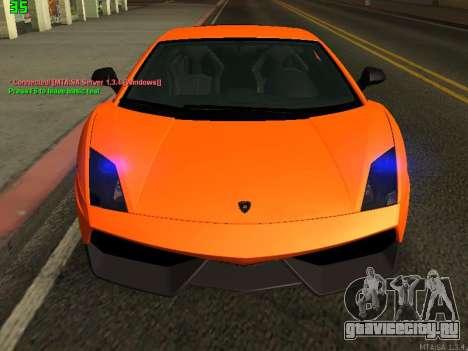 Lamborghini Gallardo LP560-4 SL UGR Altecho для GTA San Andreas вид слева