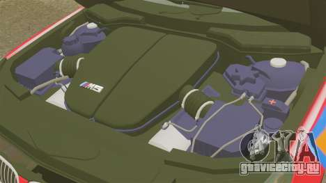 BMW M5 E60 Metropolitan Police 2010 ARV [ELS] для GTA 4 вид изнутри