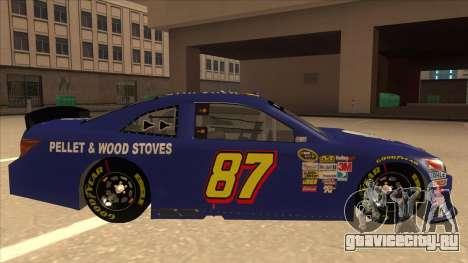 Toyota Camry NASCAR No. 87 AM FM Energy для GTA San Andreas вид сзади слева