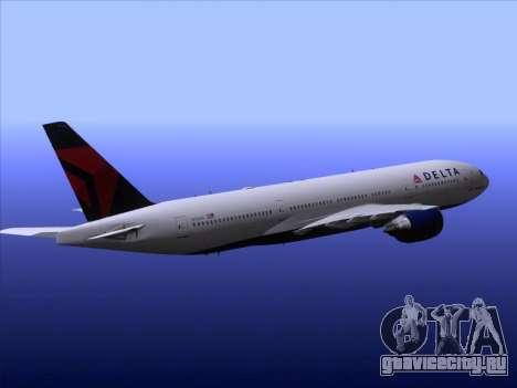Boeing 777-200ER Delta Air Lines для GTA San Andreas двигатель