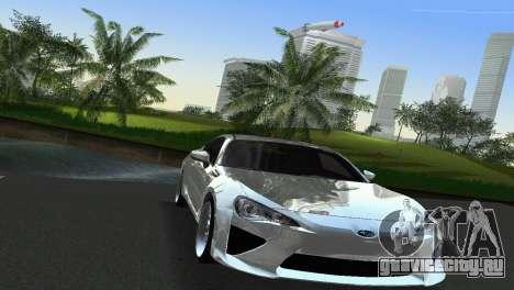 Subaru BRZ Type 2 для GTA Vice City вид изнутри