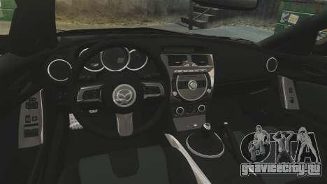 Mazda RX-8 R3 2011 Police для GTA 4 вид изнутри
