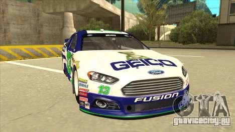 Ford Fusion NASCAR No. 13 GEICO для GTA San Andreas вид слева