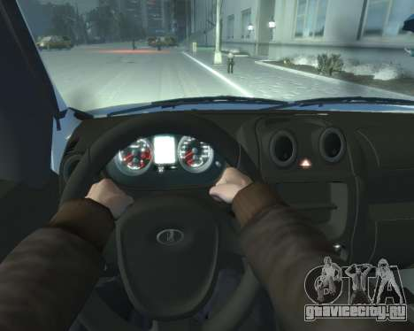 Lada Granta Hatch - VAZ 2191 для GTA 4 вид сзади