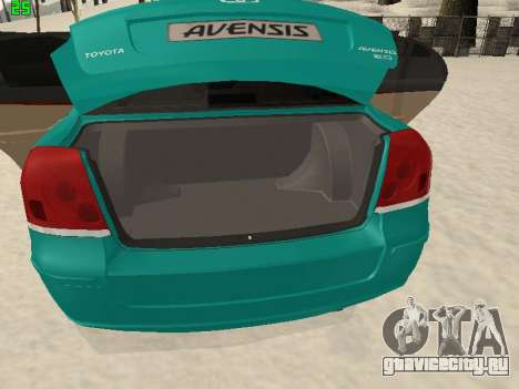 Toyota Avensis 2.0 16v VVT-i D4 Executive для GTA San Andreas вид изнутри