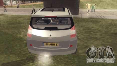 Renault Scenic 2 для GTA San Andreas вид справа
