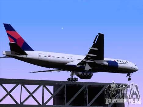 Boeing 777-200ER Delta Air Lines для GTA San Andreas вид сверху