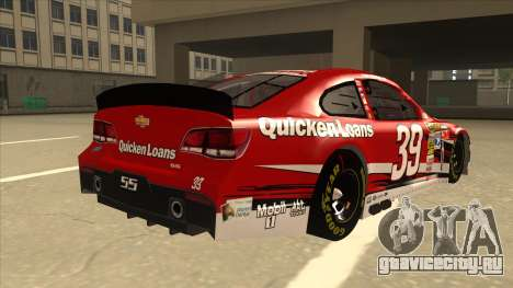 Chevrolet SS NASCAR No. 39 Quicken Loans для GTA San Andreas вид справа