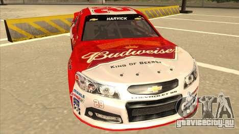 Chevrolet SS NASCAR No. 29 Budweiser для GTA San Andreas вид слева