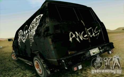 Gang Burrito для GTA San Andreas вид сзади слева