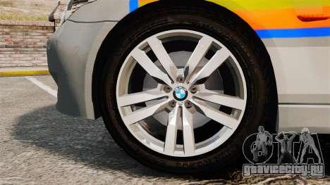 BMW M5 E60 Metropolitan Police 2006 ARV [ELS] для GTA 4 вид сзади
