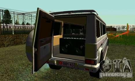 Mercedes-Benz G500 Limo для GTA San Andreas вид справа