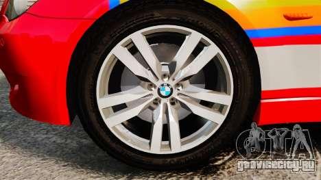 BMW M5 E60 Metropolitan Police 2010 ARV [ELS] для GTA 4 вид сзади