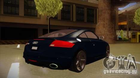 Audi TT RS для GTA San Andreas вид сзади