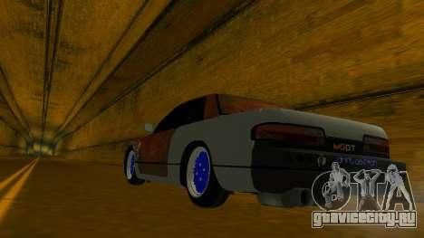 Nissan Silvia S13 MGDT для GTA San Andreas вид изнутри