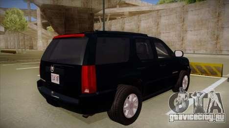 Cadillac Escalade 2011 Unmarked FBI для GTA San Andreas вид справа