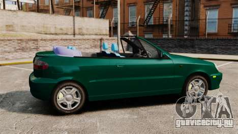 Daewoo Lanos 1997 Cabriolet Concept v2 для GTA 4 вид слева
