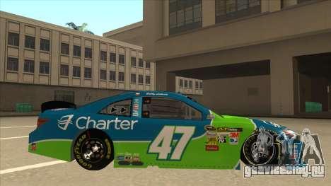 Toyota Camry NASCAR No. 47 Charter для GTA San Andreas вид сзади слева