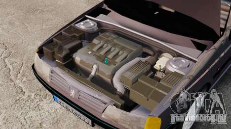 Peugeot 405 GLX для GTA 4 вид сзади
