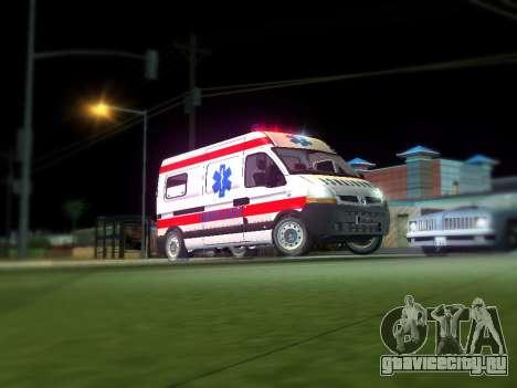 Renault Master Сербский скорой помощи для GTA San Andreas