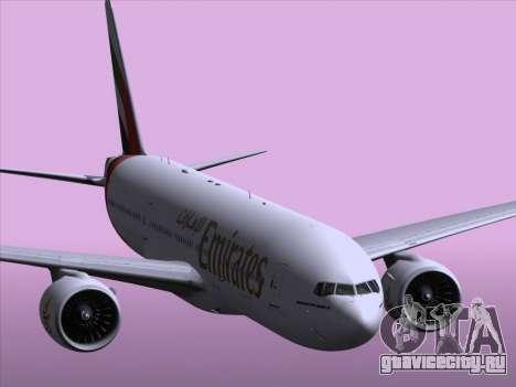 Boeing 777-21HLR Emirates для GTA San Andreas вид снизу