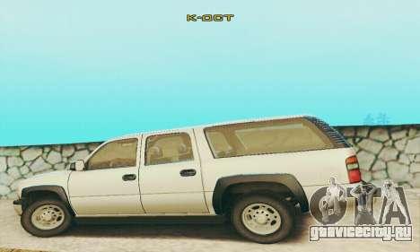Chevrolet Suburban SAPD FBI для GTA San Andreas вид изнутри