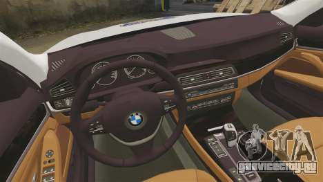 BMW M5 Touring Croatian Police [ELS] для GTA 4 вид изнутри