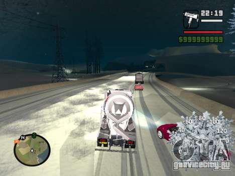 Новогодний спидометр для GTA San Andreas шестой скриншот