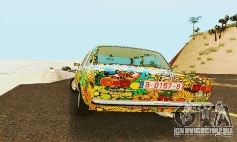 ВАЗ 21011 Хиппи для GTA San Andreas вид изнутри