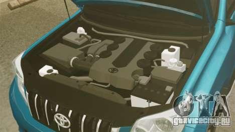 Toyota Land Cruiser Prado 150 для GTA 4 вид изнутри