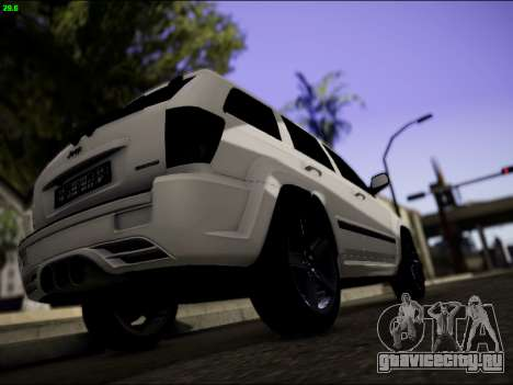 Jeep Grand Cherokee SRT8 для GTA San Andreas вид справа