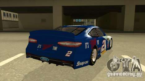 Ford Fusion NASCAR No. 2 Miller Lite для GTA San Andreas вид справа