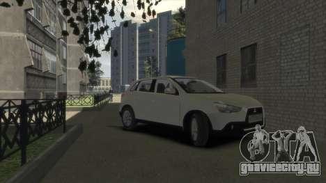 Mitsubishi ASX 2010 для GTA 4 вид справа