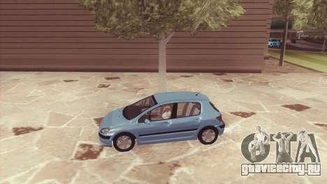Peugeot 307 для GTA San Andreas вид слева