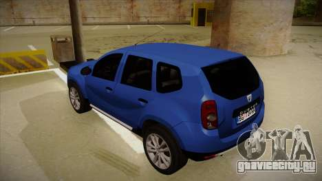 Dacia Duster SUV 4x4 для GTA San Andreas вид сзади
